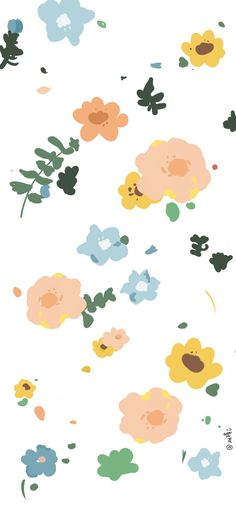 Cute Patterns Wallpaper, Cute Wallpaper Backgrounds, Cute Cartoon Wallpapers, Pretty Wallpapers, Aesthetic Iphone Wallpaper, Flower Wallpaper, Aesthetic Wallpapers, Plain Wallpaper, Normal Wallpaper