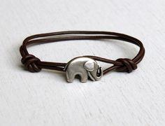 Elephant Leather  Bracelet (many colors to choose) by greenduckweed on Etsy https://www.etsy.com/listing/81995248/elephant-leather-bracelet-many-colors-to