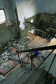 Interior of abandoned school, Hyogo Prefecture, Japan