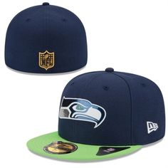 san francisco a91cb 8d297 Men s Seattle Seahawks New Era College Navy Neon Green 2015 NFL Draft  On-Stage