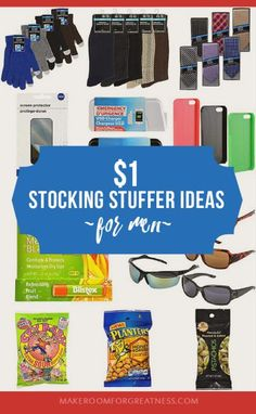 $1 stocking stuffer ideas for men - simple Christmas gifts that don't break the budget, a frugal Christmas