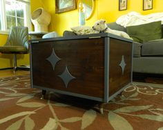 Mid Century Inspired Coffee Table Chest. $300.00, via Etsy.