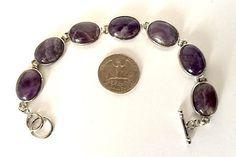 Amethyst Wrist Bracelet Healing Beads Bracelet Bangle - 15X20 mm Oval  – AwakenYourKundalini