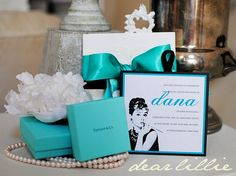 Not sure what this invitation is for but it gave me the GREAT of idea of having a Breakfast at Tiffany's themed bridal shower! If/when I have a bridal shower. LOVE!
