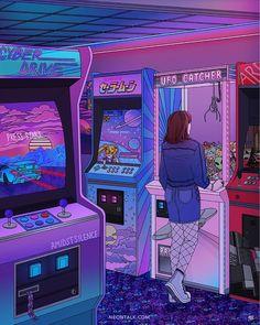 "20.7 k gilla-markeringar, 53 kommentarer - POP MY EYES (@popmyeyes) på Instagram: """"Arcade"" art print from @neontalk, design by Kelsey Smith"""