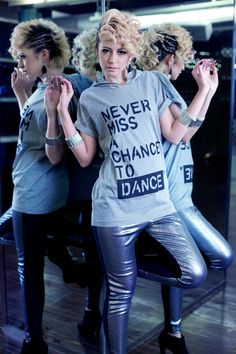 #RightLove 2012 Collection  Never Miss A Chance To Dance  Hoodie Tshirt  Silver Sequin Legging