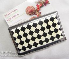 Harlequin business card holder