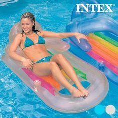 MATELAS GONFLABLE AVEC DOSSIER ET REPOSE-BRAS INTEX  le matelas gonflable avec dossier et repose-bras Intex, idéal pour profiter d'un jour à la plage ou à la piscine de manière confortable.   Fabriqué en vinyle résistant 2 chambres à air 1 porte-boissons Âge recommandé : à partir de 14 ans Poids maximum env. : 80 kg Dimensions env. : 160 x 85 cm