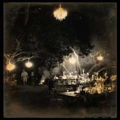 www.eventsandtents.co.za   Chandeliers in the trees