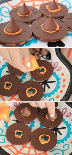 Creative Easy Diy Halloween Party Ideas For Kids Skeleton Trophies Witch Hat Cookies 19 Diy Halloween Party Ideas For Teens That Are Totally Spooktacular Dulces Halloween, Halloween Party Snacks, Adornos Halloween, Fete Halloween, Halloween Goodies, Snacks Für Party, Halloween Birthday, Halloween Costumes, Halloween Treats For Kids