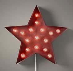 "Vintage Illuminated Star | 269.00 | Restoration Hardware Baby & Child | 24""dia 