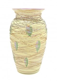 A Durand Iridescent Glass Vase, Height 7 1/2 inches. : Lot 125