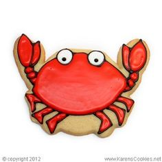 Crab Cookie Cutter~                           By Karen's cookies, red crab