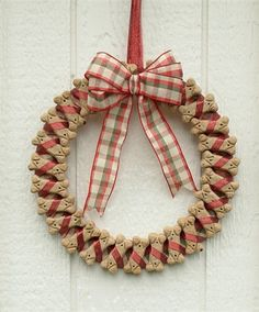 variations on dog biscuit wreaths