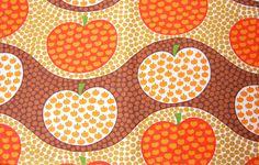 vintage apple fabric