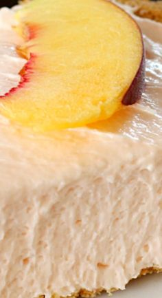 No-Bake Peach Cheesecake