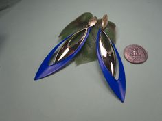 20% discount /fashion earrings blue and gold shape leaf/cheap/affordable/ discount/big sale by Jevifashion on Etsy https://www.etsy.com/listing/179258386/20-discount-fashion-earrings-blue-and
