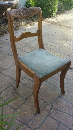 Before picture - My friend found this chair in the trash- it was ucky!!