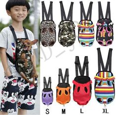 Pet Dog Backpack Carrier Puppy Pouch Cat Front Bag or Back Pack With Legs Out US #Unbranded