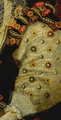 Detail from portrait of Queen Elizabeth I.