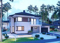 Projekt domu APS 274+2G 170,1 m2 - koszt budowy - EXTRADOM