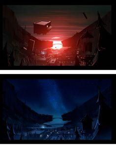 Mais cenários do seriado Gravity Falls | THECAB - The Concept Art Blog