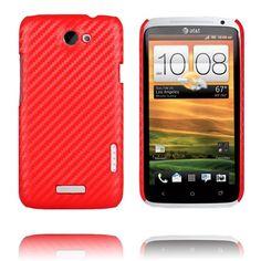 Carbonite (Rød) HTC One X Deksel
