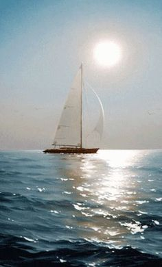 The perfect Sailboat Sea Animated GIF for your conversation. Discover and Share the best GIFs on Tenor. Beautiful Places, Beautiful Pictures, Beautiful Sunset, Boat Art, Sail Away, Belle Photo, Sailing Ships, Sailing Boat, Art Photography