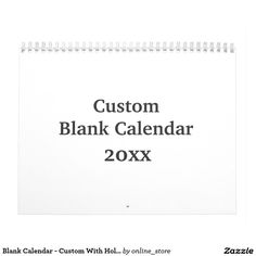 Shop Blank Calendar 2017 - Custom With Holidays created by online_store. Blank Monthly Calendar, Calendar 2017, Create Your Own Calendar, Event Template, Holidays And Events, Gifts For Family, Diy Gifts, Holiday Gifts, Cards Against Humanity