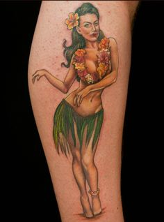 hula girl tattoos on pinterest dancer tattoo clown tattoo and narwhal tattoo. Black Bedroom Furniture Sets. Home Design Ideas