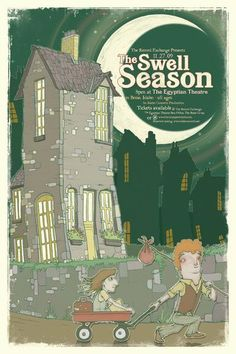 Original offset lithograph poster for Swell Season at The Egyptian Theatre in Boise, ID in 2009. Signed and numbered limited edition of only 127 by artist Ben Wilson.