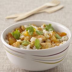 Salade de riz, poulet curry et abricots secs #Mavieencouleurs