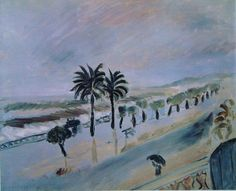 Henri Matisse - Tempête à Nice, 1919 - Hôtel de la Méditerranée, Nice.