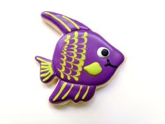 Tropical Fish Sugar Cookies by guiltyconfections on Etsy, $23.40