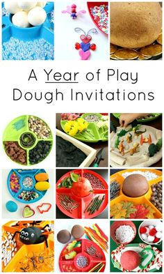 Use this quick reference guide to set up creative play dough invitations kids will love for every month of the year.