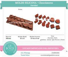 Categoría: Molde Silicona cake pop, tortas, muffins, chocolatero  Producto: molde silicona chocolatero  Modelo: Navidad Presentacion: 1 molde de 12 cavidades Importado