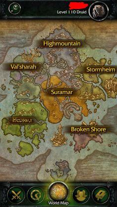 My companion app changed the language on Azsuna? #worldofwarcraft #blizzard #Hearthstone #wow #Warcraft #BlizzardCS #gaming