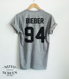 JUSTIN BIEBER SHIRT BIEBER 94 TSHIRTS TOP YEAR OF BIRTH TUMBLR UNISEX CLOTHING #Unbranded #GraphicTee