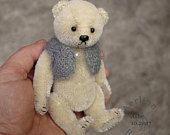 Ashe, Miniature OOAK Mohair Teddy Bear by Aerlinn Bears