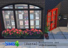 Sims 4 CC's - The Best: Bookstore Decor Set by Sutta