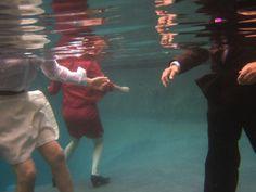 Bruno stigmata gives a self treatment in pool