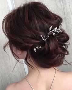 wedding hair hair bridesmaid hair ideas hair with combs hair stylist near me hair pin hair with extensions hair clip Wedding Tiara Hairstyles, Prom Hair Updo, Wedding Updo, Bride Hairstyles, Hairstyle Ideas, Gown Wedding, Bob Hairstyle, Elegant Wedding, Wedding Cakes