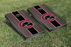Gray Onyx Chapman University Panthers Varsity Stripe Cornhole Game