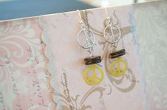 Peace Earrings by KaliKJewelry on Etsy, $7.00