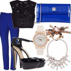 Ecco il mio outfit per inaugurare il nuovo partner Yoox dove si possono trovare veramente capi bellissimi.  Questo outfit è basato sul blu e sul nero, colori che insieme si abbinano alla perfezione, molto elegante direi perfetto per un appuntamento galante.