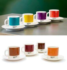 pantone espresso cups