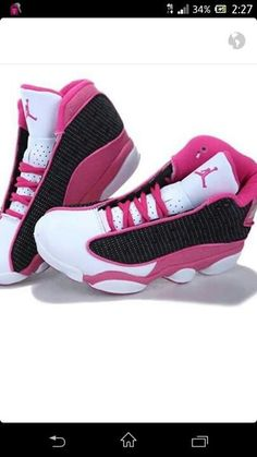 If you wear male Womens Air Jordan 13 (XIII) Retro Pink Black White , it could possibly offer you with good luck.The Womens Air Jordan 13 seems more meaningful and changeable. Women's Shoes, Cute Shoes, Me Too Shoes, Shoe Boots, Shoes Sneakers, Shoes Tennis, Pink Shoes, Basketball Shoes, Jordan Shoes For Women