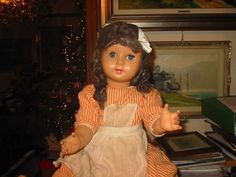 ANTICA BAMBOLA ATHENA MARCHIO E NUMERO 60 SU 65. in Giocattoli e modellismo, Bambole e accessori, Bambole antiche   eBay