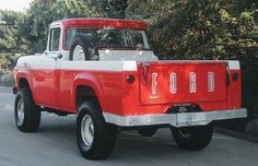 1959 Ford truck red and white