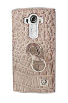 #Carcasa de #Piel #LG #G4 #Grabado de #Cocodrilo Hecha en #España #Finger360